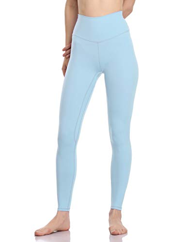 Colorfulkoala Women's Buttery Soft High Waisted Yoga Pants Full-Length Leggings (M, Baby Blue)