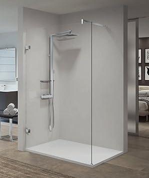 Mampara de ducha italiana Gala H Reversible de cristal sécurté 10 mm antical altura 200 cm – Perfil cromo (referencia Base de la más pequeña dimensión): Amazon.es: Bricolaje y herramientas