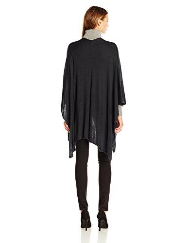 Echo Design Women's Everyday Luxe Ruana Poncho Cape, Black, One Size