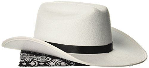 Aeromax Junior Cowboy Hat with Bandanna, White -