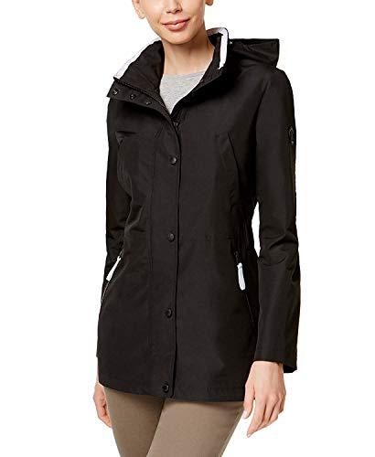 Nautica Women's Hooded Water-Resistant Anorak Black XXL