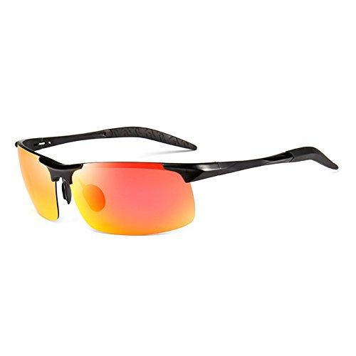 Color Solar 100 La Luz UV Protección Libre De Polarizada Plata Naranja WYYY Gafas Hombres UVA Aire Sol Anti De Gafas Gafas Sin Protección Clásico Conducción Borde OnwRqa1Bg