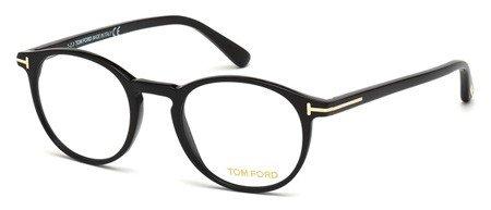 Tom Ford Eyeglasses FT5294 001 Shiny Black - Round Ford Optical Frame Tom