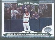 - 2004 Topps World Series Highlights Baseball Card #CF Carlton Fisk