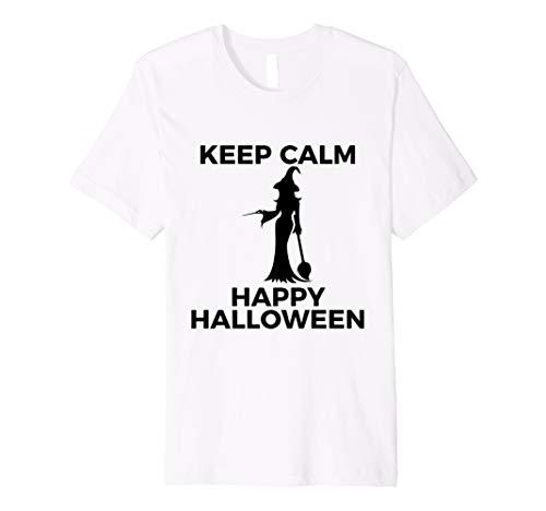 Spectacular Witch Keep Calm Happy Halloween TShirTShirt