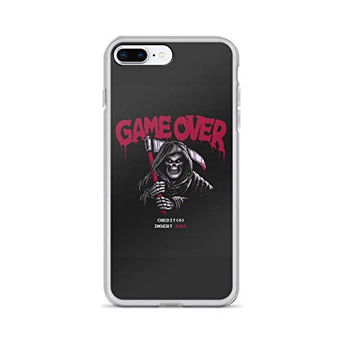 (iPhone 7 Plus/8 Plus Case Anti-Scratch Gamer Video Game Transparent Cases Cover Insert Soul Gaming Computer Crystal Clear)