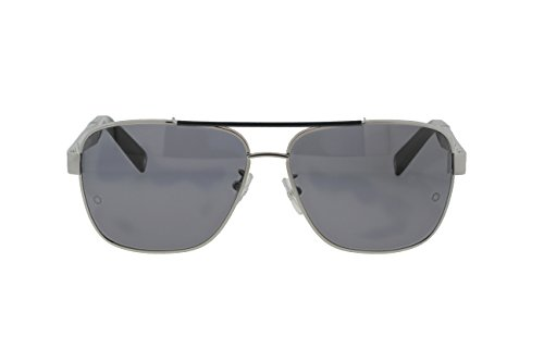 Mont Blanc Men's MB463T 14A Gun/Black Rectangular 61mm Sunglasses
