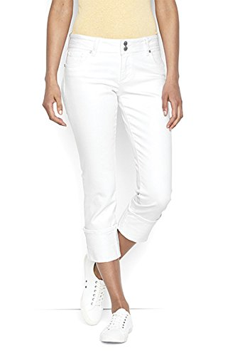 Orvis Two Piece (Orvis Denim Wide-Cuff Cropped Jeans, White, 8)