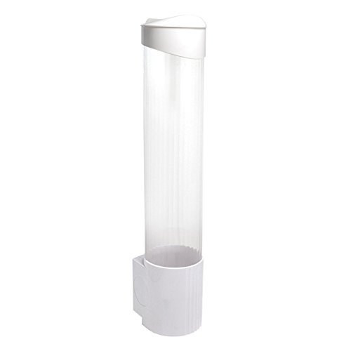 Cup Dispenser  WHITE & CLEAR