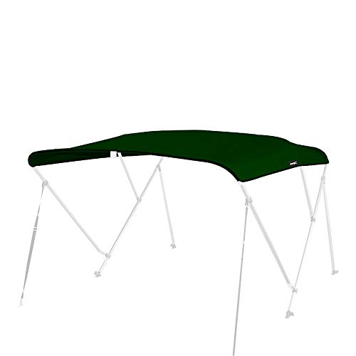 MSC 600D Canopy Canvas Replacement Without Poles (Forest Green, Fits 6'Lx54-60 W 3 Bow Bimini Top) ()