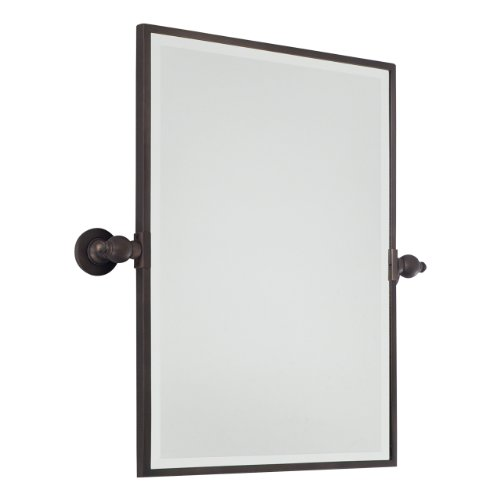 (Minka Lavery Rectangular Bath Mirror Plated Finish, Standard, Dark Brushed Bronze)