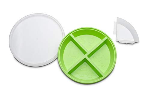 BPA-Free Toddler Divided Plates with Lids (2-pack)
