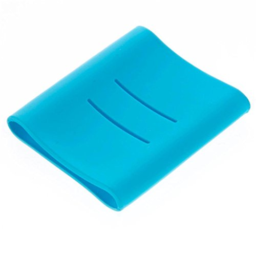 Mchoice Silicone Soft Protector Case Cover Sleeve for Xiaomi 10400mAh Power Bank Battery (Blue)