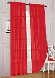 WPM 60 X 63 Inches Sheer Window Elegance Curtains/drape/panels/treatment