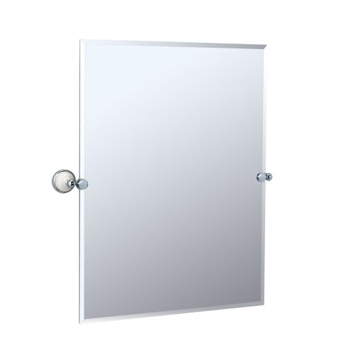 Franciscan, Frameless Rectangle Mirror, Chrome