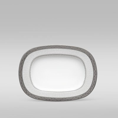 Tray Noritake China (Noritake Odessa Butter Relish Tray, Platinum)