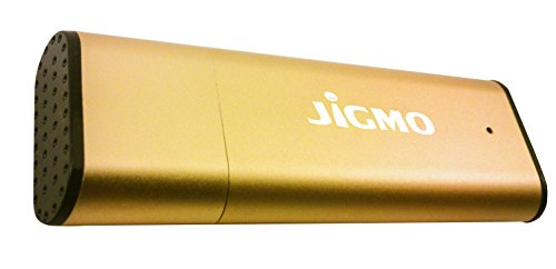 Voice Activated Recorder Digital Audio Recording Device (Gold) by JiGMO - 8GB / 96 Hours Capacity! Recharge While Recording! with 2 Lanyards and E-Book! Dont Miss Another Word!