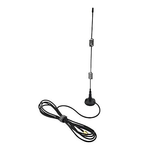 Insten 335802 Wi-Fi 2.4GHz 7 DBI Booster Antenna SMA RP with Wireless Wlan (Wifi Antenna With Sma)