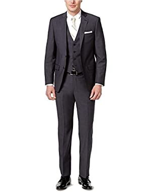 Calvin Klein Extra Slim Grey Neat 2 Button Flat Front New Men's 2-Piece Suit Set
