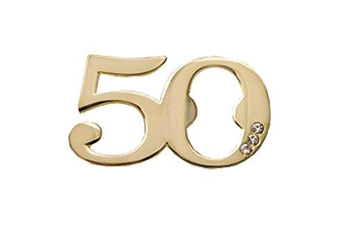 50th Birthday / Anniversary Design Golden Bottle Opener (96) by Fashioncraft