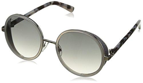 Jimmy Choo Women's Andie/S Palladium/Gray Mirror Silver (Mirror Sunglasses Silver Gray)