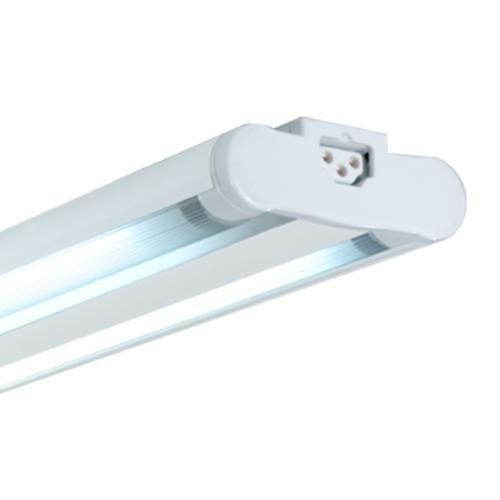 Jesco Lighting SG5AT-21/41-WH Sleek Plus Twin Adjustable Grounded 21-Watt T5 Light Fixture, 4100K Color, White Finish