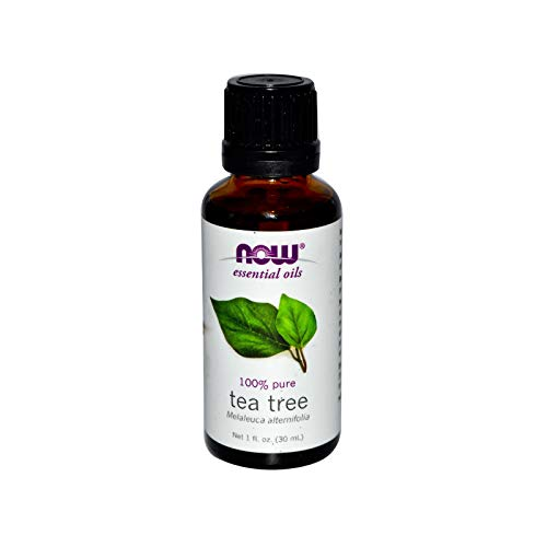 Now Essential Oils, Tea Tree Oil, Cleansing Aromatherapy Scent, Steam Distilled, 100% Pure, Vegan, 1-Ounce