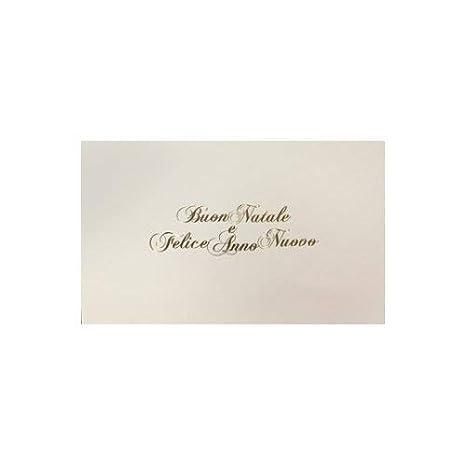 Auguri Di Buon Natale E Felice Anno Nuovo Canzone.Biglietti Buste Buon Natale E Felice Anno Nuovo Bianco Scritta Oro