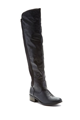 Free Reign Women's Knee-High Boot with Elastic Stretch Shaft in Black Size: (Knee High Stretch Boot)