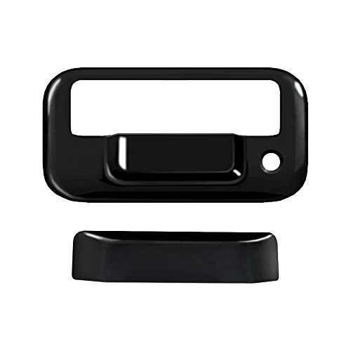 MaxMate Fits 04-07 Lincoln Mark LT/08-16 F250/F350/F450 Super Duty/04-14 F150 (Not for Heritage)/07-09 Explorer Sport Trac Glossy Black Tailgate Handle Cover with Keyhole