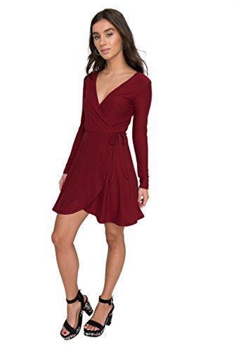 Ardene Women's - Mini Dresses - Super Soft Wrap Dress Large -(8A-AP01326) (Dress Wrap Tie)