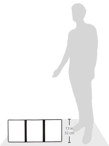 8-1//2 X 11 Fold-Out Plastic Laminate Folder Black Trimming 10 Pieces//Unit Menu Cover 6-View Triple Pocket