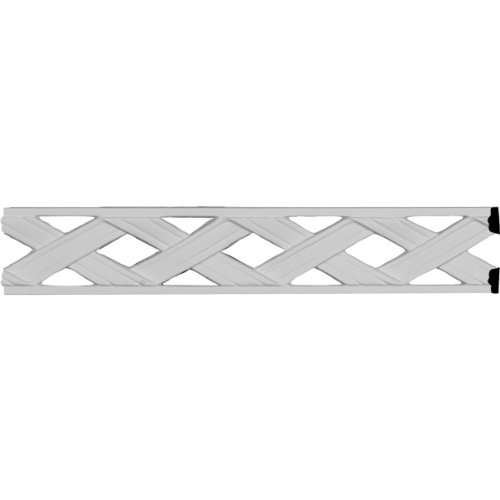 Ekena Millwork PML02X01RI 2 1/8-Inch H x 1/4-Inch P x 78 7/8-Inch L Ribbon Pierced Panel Moulding (Pierced Molding Wood)