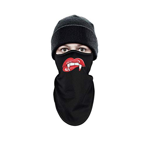 Schild Women Men Winter Windproof Halloween Party Supplies Zombie Teeth Lips Half Face Mask Running Gear Thermal Wind face -