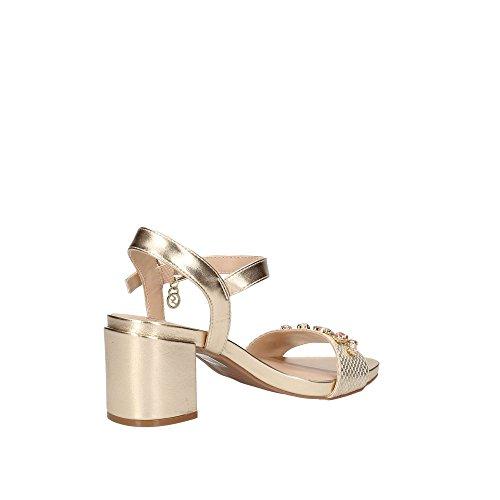 Pelle Sandalo Oro Con Gattinoni In Roma Oro Applicazioni 40 f6xqZ7xn