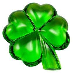Baccarat Crystal Four Leaf Clover Green