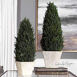 (Uttermost Cypress Cone Topiaries, S/2 60140)