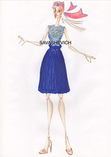 00156d3603 Abito blu in pizzo e lana: Amazon.it: Handmade
