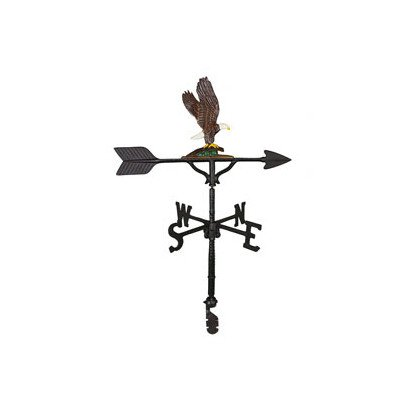 Montague Metal Products 32-Inch Weathervane with Color Eagle Ornament