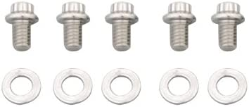 ARP 615-1000 Stainless Steel 3//8-16 RH Thread 1.000 UHL 12-Point Bolt with 7//16 Socket and Washer, Set of 5