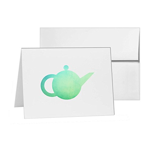 Teapot, Blank Card Invitation Pack, 15 cards at 4x6, Blank with White Envelopes Style 4399 -