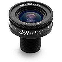 3.4mm PIXAERO Duo Lens for YI, no Distortion, Manual Focus (YI 4K / 4k+)