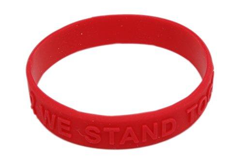 Red Ribbon Awareness Embossed Silicone (Red Awareness Ribbon Bracelet)