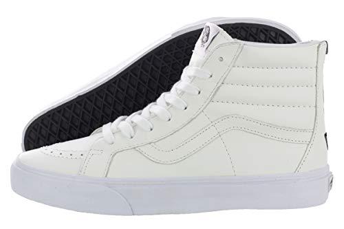 Vans Mens Premium Leather SK8-Hi Reissue Zip True White/Black Sneaker - 12
