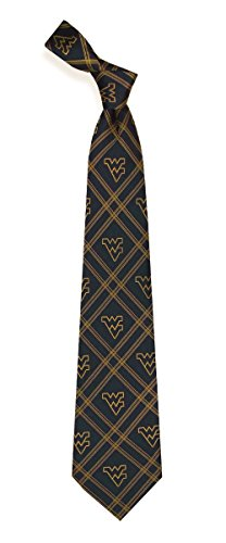 West Virginia Mountaineers Checked Woven Poly Tie