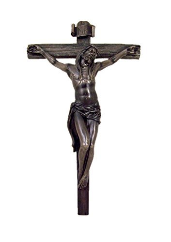 Home Originality Religious Jesus Christ on Cross Crucifix Wall Decoration, 14 Inch (Cross Christ Jesus Wall)