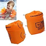 One Pair of Orange Armband Floaters Trainers for Kid's Swimming