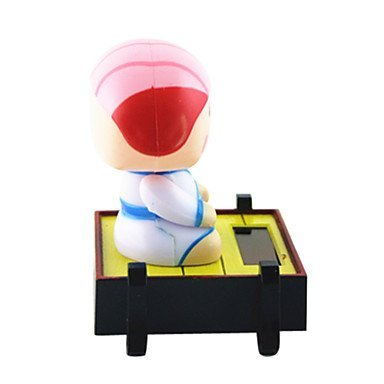 BuW Solar Powered Sushi Chef Shaking Head Toy Pink Sushi Head ,helps the child develop great imagination