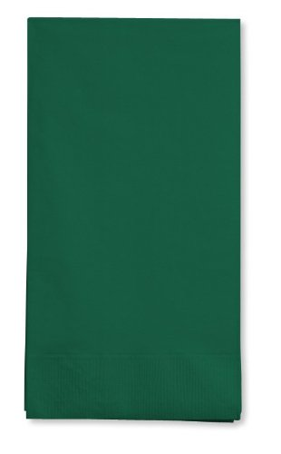 (16-Count Touch of Color 3-Ply Paper Guest Napkin, Hunter Green)