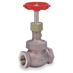 Globe Valve, 3/8 In NPT, Bronze, 300 PSI by Milwaukee Valve